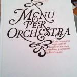 Menù per orchestra